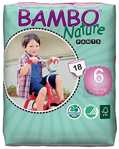 Bambo Nature -  Pañales de Entrenamiento, X-Large, tamaño 6,  Paquete de 18