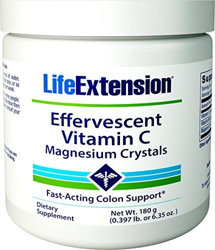 Life Extension Effervescent Vitamin C & Magnesium Crystals 180g (Life Extensions Vitamin C)