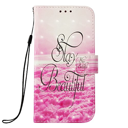 LG K30 Fall, LG K10 2018 Fall, jancalm [Handschlaufe] [Standfunktion] [3D Painted] [-Karte/Cash Slots] Muster PU Leder Wallet Magnetic Flip Folio Cover + Crystal Pen, Beautiful Pattern T-mobile Wireless-handy