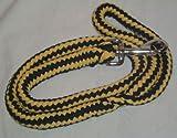 Hundeleine aus Baumwolle 1,50 Meter gelb/schwarz