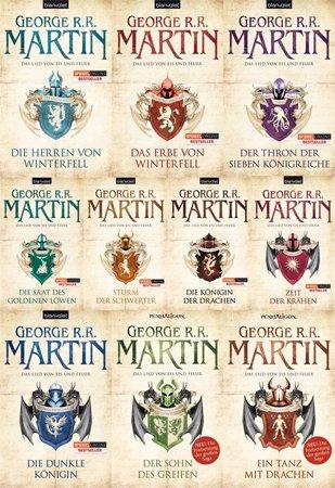 Das Lied von Feuer und Eis Band 1-10 im Set (Buch Game Thrones)