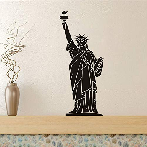 New York Landmark Gebäude Freiheitsstatue Wandaufkleber Wohnkultur Zubehör Wohnzimmer Große Größe Pvc Abnehmbare 43X100cm
