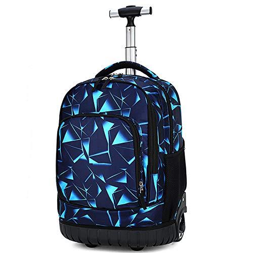 18 Zoll Trolley Schultasche, Fantasy Muster, 1-4 - Rucksack mit Rollen, hohe Kapazität für Unisex Jungen Mädchen Studenten Klettern Treppen Tech Cube 45,7 cm