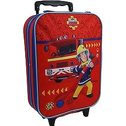 Feuerwehrmann Sam Kinder Koffer Trolley Kinderkoffer Reisekoffer Handgepäck 8015