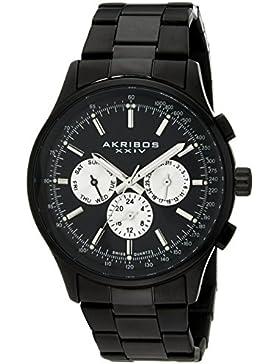 Akribos XXIV Herren-Armbanduhr Analog Quarz AK788BK