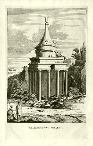 ThePrintsCollector religieux Print- Antique Tomb- de 1725 Absalon