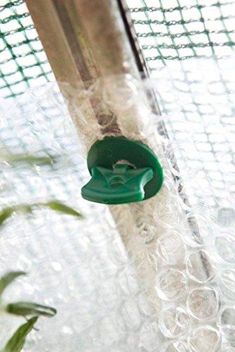 KINGLAKE 50 Pcs Greenhouse Twist Clips Shading Fixing Clips and 50 Pcs Washers for Aluminium Greenhouse Insulation Bubble Netting Shading