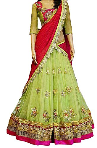 Sanjana Collection Women'S Faux Georgette Lehenga Saree Lehenga Choli (Sc _Perot_Perot_Free Size)