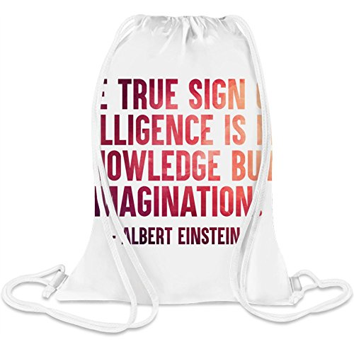 Das wahre Zeichen der Intelligenz - The True Sign Of Intelligence Custom Printed Drawstring Sack 5 l 100% Soft Polyester A Stylish Bag For Everyday Activities (Cinch-zeichen)