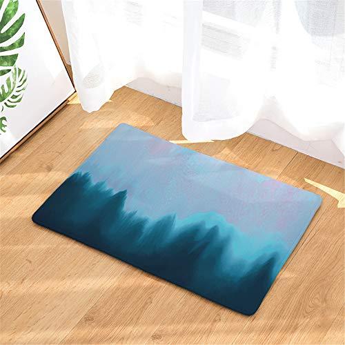 LYJZH Badteppich, rutschfest & waschbar, weicher Duschvorleger, Badematte Baum gedruckte Fußmatte Fußmatte Badezimmer saugfähig rutschfeste Farbe5 40x60cm