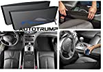 AUTOTRUMP Car Side pocket Storage designed to catch items before they drop. Stop distractions, create storage, and keep items within easy reach. Installs in seconds: simply slide car seat catcher between the seat and console. Its flexible, one-size-f...