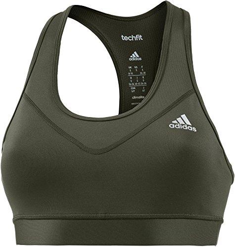 adidas Damen Techfit Sport-Bh, Ngtcar/Msilve, S Preisvergleich