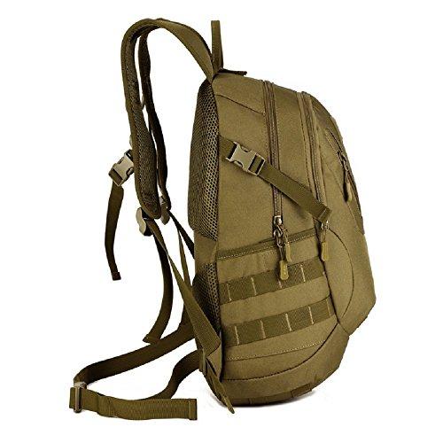 Imagen de hombre mujer bolsa de asalto táctico militar al aire libre  de acampada ciclismo sendemismo bolsa  20l, marrón oscuro alternativa