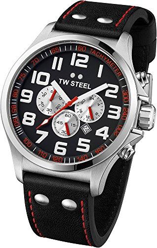 TW Steel TW415 - Orologio da polso unisex, pelle, colore: nero