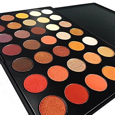 DE'LANCI Professional 35 Color Eyeshadow Palette Waterproof Makeup Eyeshadow Kit Set(35 Color) by DE'LANCI Technology Co., Ltd