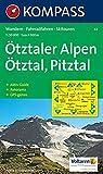 Ötztaler Alpen, Ötztal, Pitztal: Wander-, Rad- und Skitourenkarte. Mit Panorama. GPS-genau. 1:50.000 -