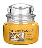 Village Candle 106311835 Honigcreme Kleine Duftkerze, 312 g, Glas, beige, 9.5 x 9.3 cm