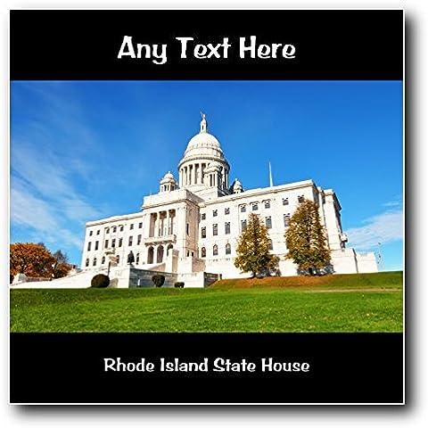 De casa de State de estampado a cuadros de Rhode Island de personalizado de tu propio diseño con texto en inglés