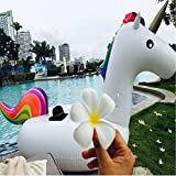 Flotation Pool, Home Giant Inflatable Unicorn, PVC Inflatable Toy float, Floating bed, Swimming ring, Water Recreation, Leisure Chair of 2-3 people