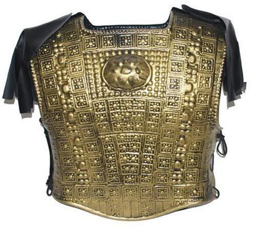 Brustpanzer Kostüm - Funny Fashion Römische Rüstung Gold gehämmert Effekt Plastik Soldaten Kreuzweg