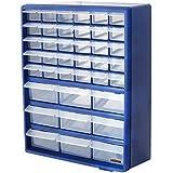 Bond Hardware Gabinete de almacenamiento con 39cajones, azul, multi-herramientas, organizador de bricolaje, caja para almacenar tuercas y tornillos