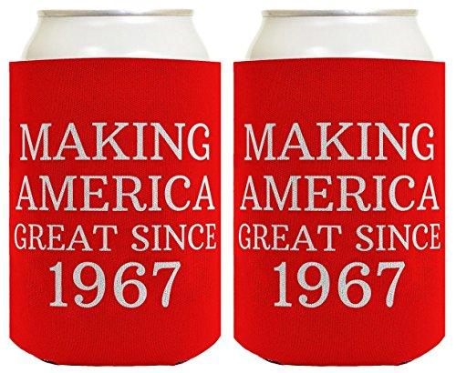 Geschenk zum 50. Geburtstag So Amerika Großartiges seit 1967Können Coolie Drink Coolers Coolies rot (Schaum Tiara)