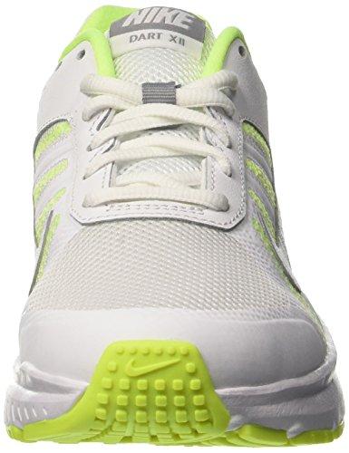 Nike Wmns Dart 12, Scarpe da Corsa Donna Avorio (White/stealth/volt)
