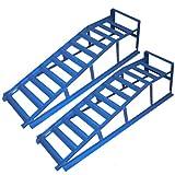2x Torrex 30023 Auffahrrampe blau 195mm / 2 Tonnen TÜV/GS geprüft