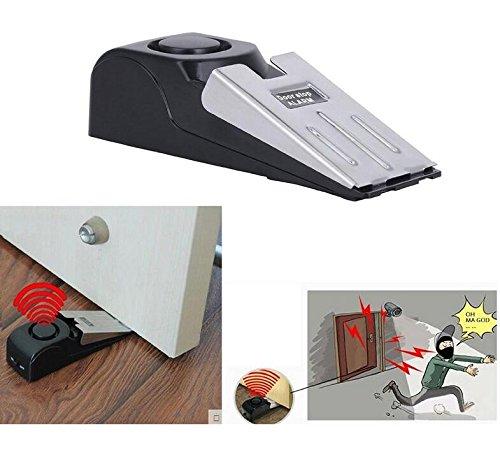 JinZhiCheng Home Sicherheit Wedge Türstopper Alarm-System (Schwarz)