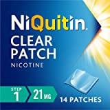 NiQuitin 21 mg Clear Patch - Stop Smoking Aid Programme - Step 1 - 14 Clear Nicotine Patches, 14 Day Treatment