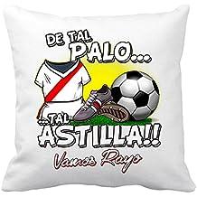 Cojín con relleno De tal palo tal astilla Rayo Vallecano fútbol - Blanco, ...