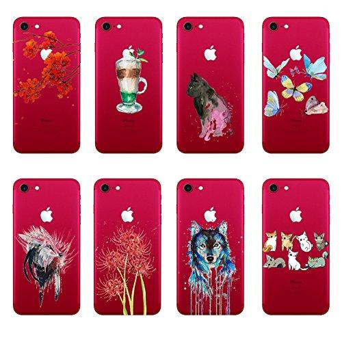 "Vanki® Coque iPhone 7, Motif Totem loup TPU Souple Etui de Protection Silicone Case Soft Gel Cover Anti Rayure Anti Choc pour Iphone7 4.7"" 2"