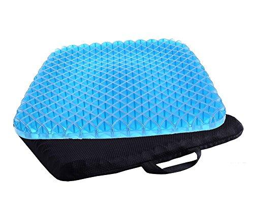 TBSDQLTEV Coussin de siège de soulagement de douleur avec la couverture antidérapante, la conception respirable de nid d'abeilles absorbe la pression