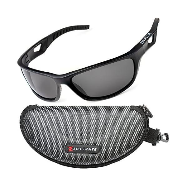 5e9801ec1a0 ZILLERATE Mens Womens Polarised Sports Sunglasses