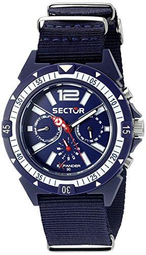 Sector  R3251197028 - Reloj de cuarzo para hombre, con correa de tela, color azul