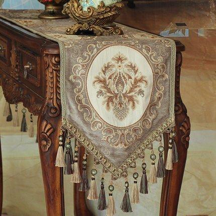 GGCCX Tischläufer Flaggen Der Europäischen Stil Luxus Tischdecke Brown 35*240 (Bettwäsche Zebra Brown Print)