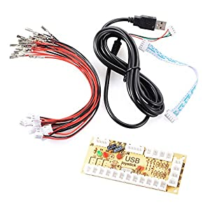 XCSOURCE® Nullverzögerungs USB Encoder PC Joystick für Mame Jamma & Andere PC-Kampfspiele AC425