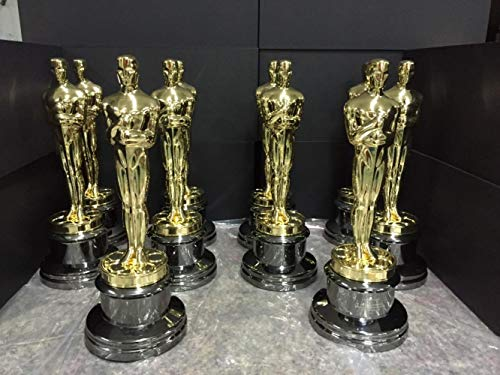 THREE Oscar-Statue, Oscar-Trophäe, Nachbildung der Oscar-Trophäe aus Zinklegierung, 1 STÜCK