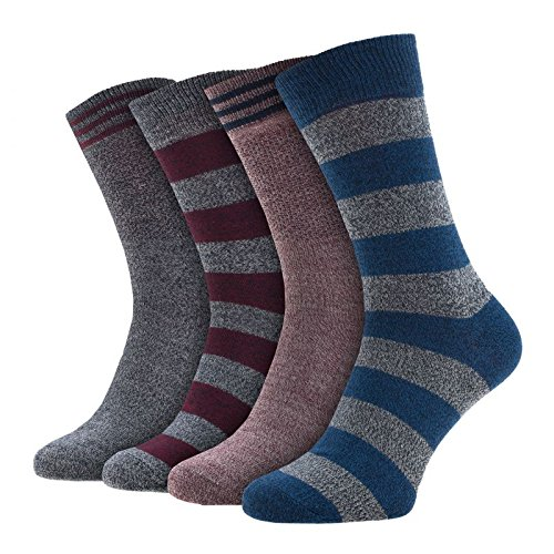 Jack & Jones 4-er Set Socken Grau, Bordeaux und Blau : 41-46 Größe 41-46