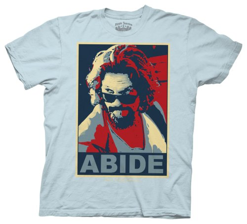 Ripple Junction Herren T-Shirt Big Lebowski Abide - Blau - Mittel -