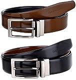 #9: MarkQues Invader Men's Black & Tan Genuine Leather Belt (IND-110104R) (Reversible)