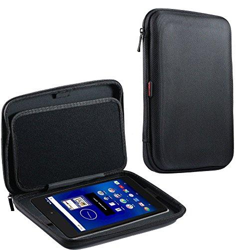Navitech schwarzes AntiSchock Schutz Case Cover Sleeve für das MEDION eBook Reader E6912