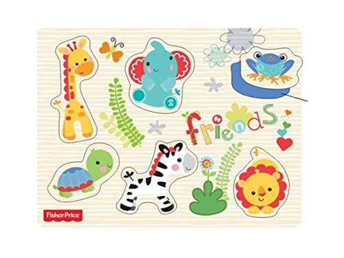 Fisher Price by AdGlobal FP-1004_1 - Holzpuzzles mit Tieren Puzzles Fisher Price