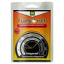 MASSO 231301 Termómetro Magnético, Negro, ...