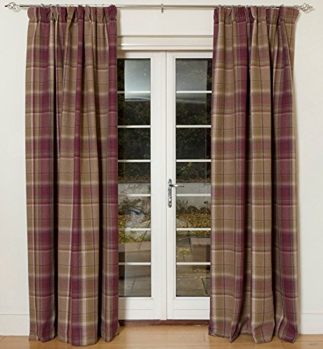Mulberry Purple McAlister Textiles Heritage Curtains