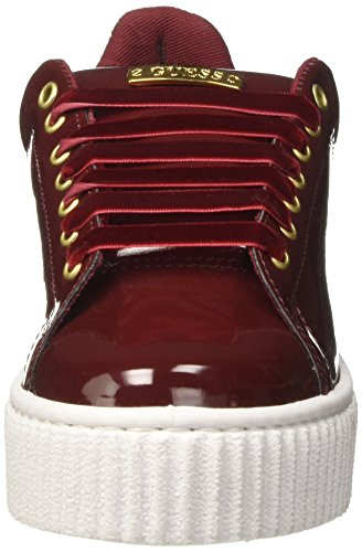 Guess FLDEN3PAT12, Scarpe Sportive Basse Donna Rosso (Wine)