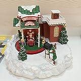 SPFAZJ Carillon di Natale Natale Box Sci Shop Upscale Musica Creative Fotocamera Ski Music Box Regalo di Natale
