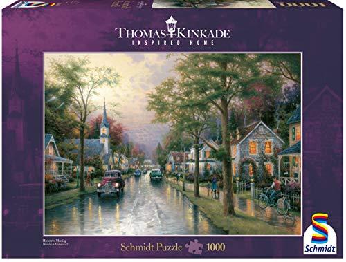 Schmidt Spiele - Thomas Kinkade, Morgen in der kleinen Stadt, 1000 Teile Puzzle