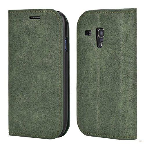 Custodia Samsung Galaxy S3 mini, Mulbess Slim Style Flip Caso Pelle Premium Portafoglio Custodia per Samsung Galaxy S3 mini Cover,Nero