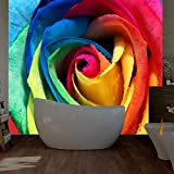 Loaizh 3D Tapete Wandbild Wandaufkleber Wallpaper Große Romantische Rose Floral Zum Leben Natürlichen Rollen Home Decor Art Dekoration 300Cmx200Cm